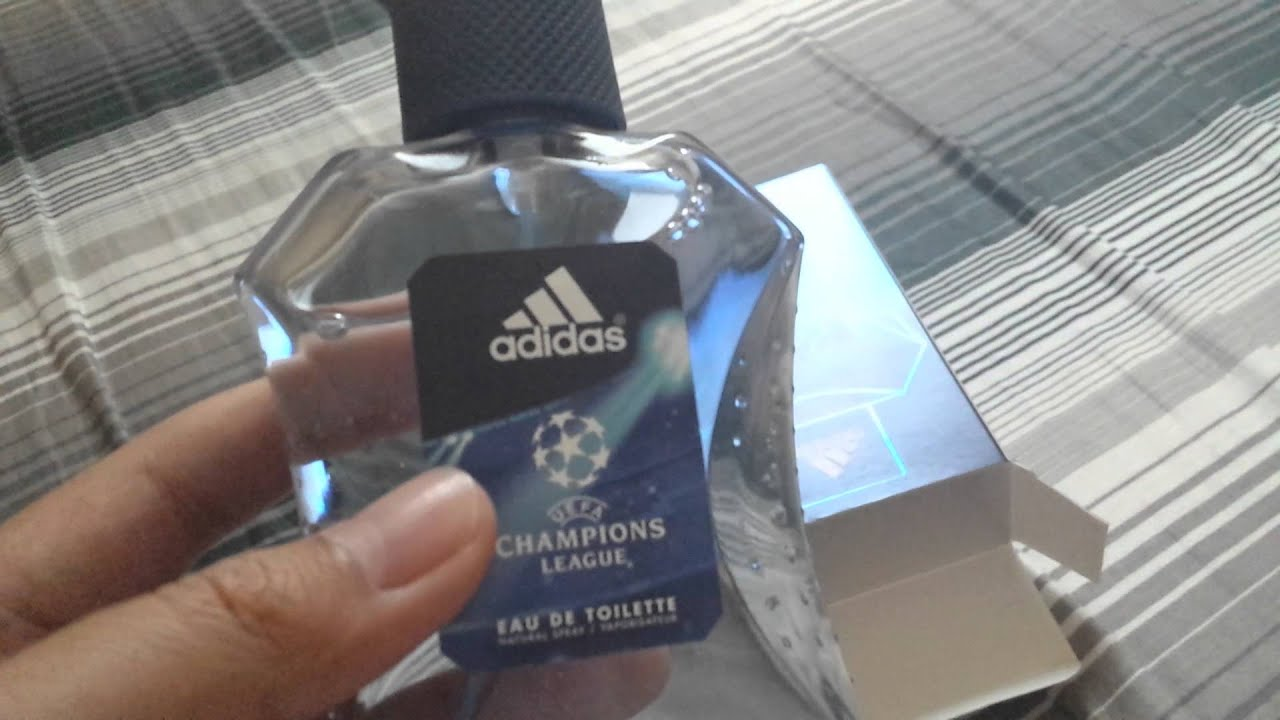 Regularidad Adepto ingeniero  Adidas UEFA Champions League Perfume Unboxing! - YouTube