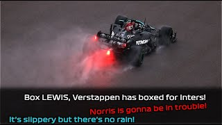 Lewis Hamilton's radio during a overtake on Lando Norris in dramatic end to the 2021 Russian GP