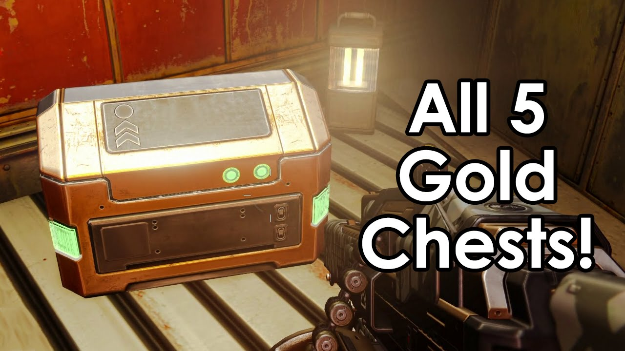 Destiny all 5 golden chest locations on earth in the cosmodrome old