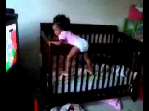 Baby climbing out of crib at 1 years old