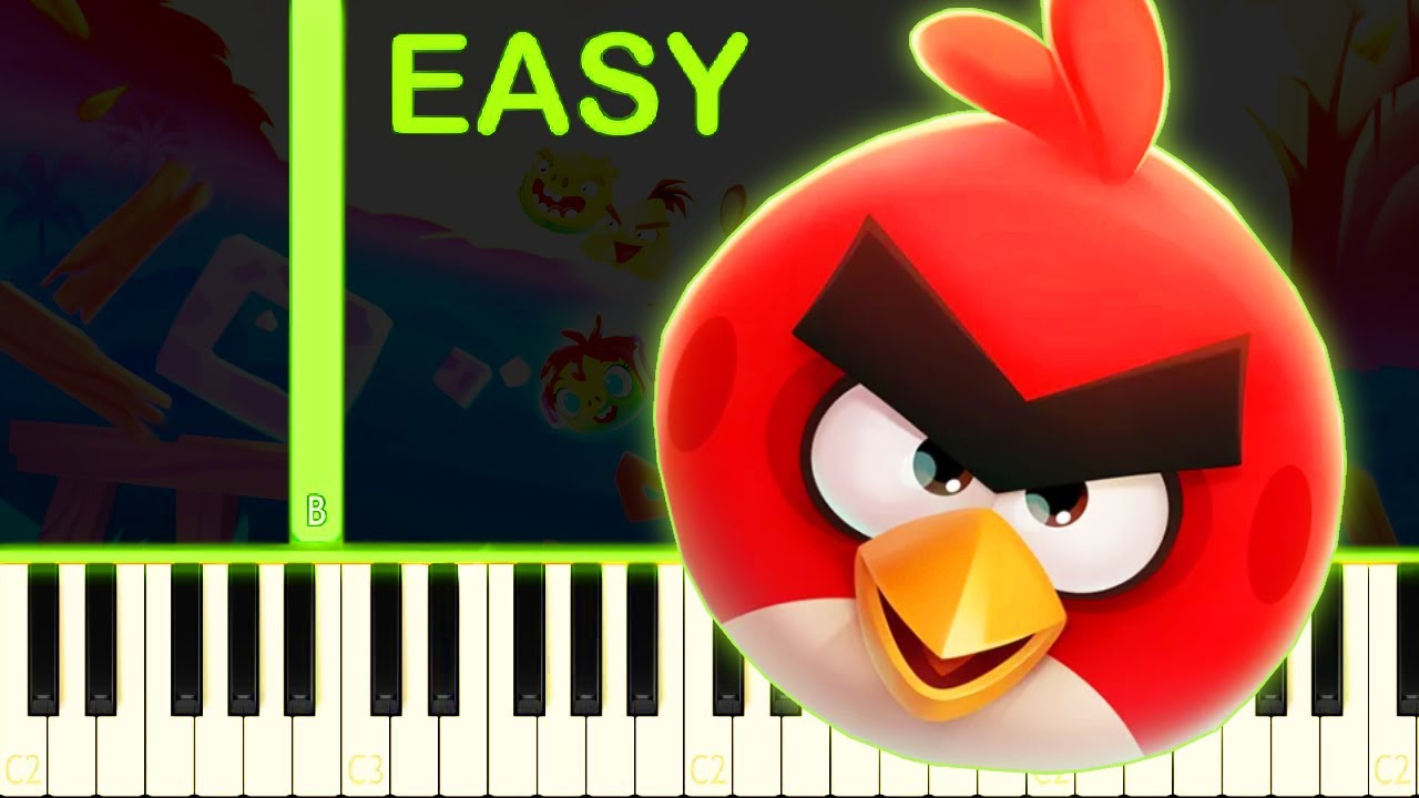 ANGRY BIRDS RELOADED - EASY Piano Tutorial