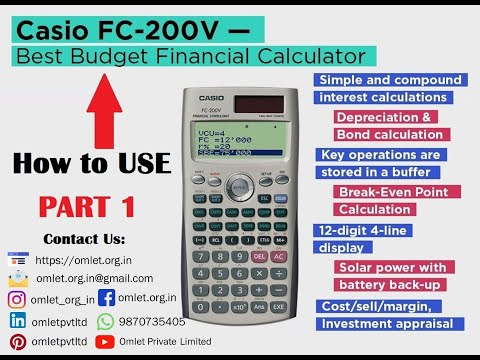 Amazon. Com: casio fc-200v financial calculator: electronics.