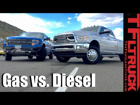 top 5 pros cons of diesel vs gasoline pickup trucks youtube. Black Bedroom Furniture Sets. Home Design Ideas