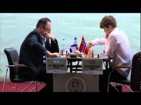 Amazing Chess Game: Magnus Carlsen vs Gelfand - Tal Memorial- Elephant Gambit style! - Brilliancy!