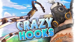 CRAZY Roadhog Hooks MOMENTS  | Overwatch Roadhog Hook, Funny and Best Moments