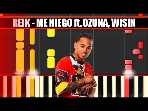 ME NIEGO (Reik ft. Ozuna, Wisin) Piano Tutorial / Cover SYNTHESIA + MIDI & SHEETS