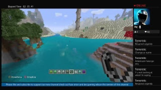 First live stream on shared channel (minecraft) building a mansion