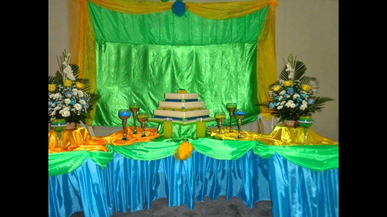 Decoracion en turquesa amarillo y verde decocandy youtube Adornos metalicos para pared