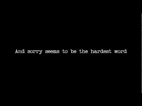 Sorry seems to be the hardest word/Mockingbird karaoke