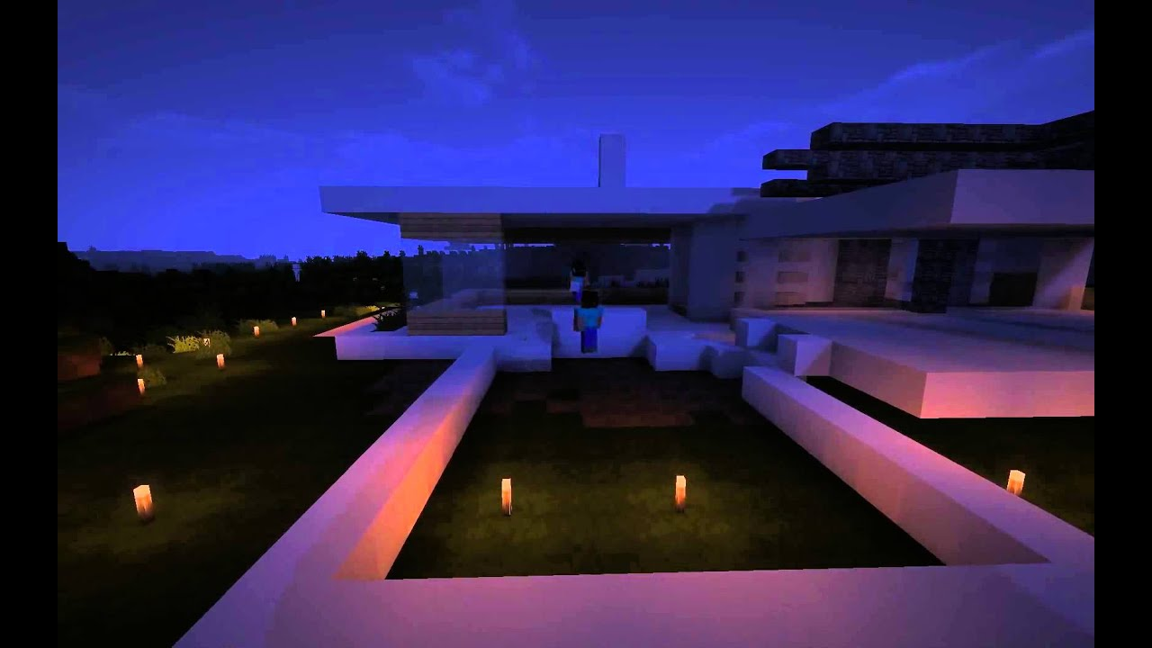 Minimal Modern House Minecraft Timelapse YouTube