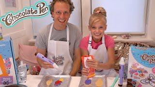 Chocolate Pen Baking Challenge VS My DAD!