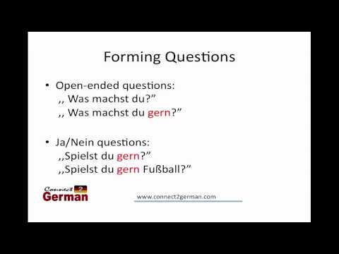 "German ""gern"" - like to do something"