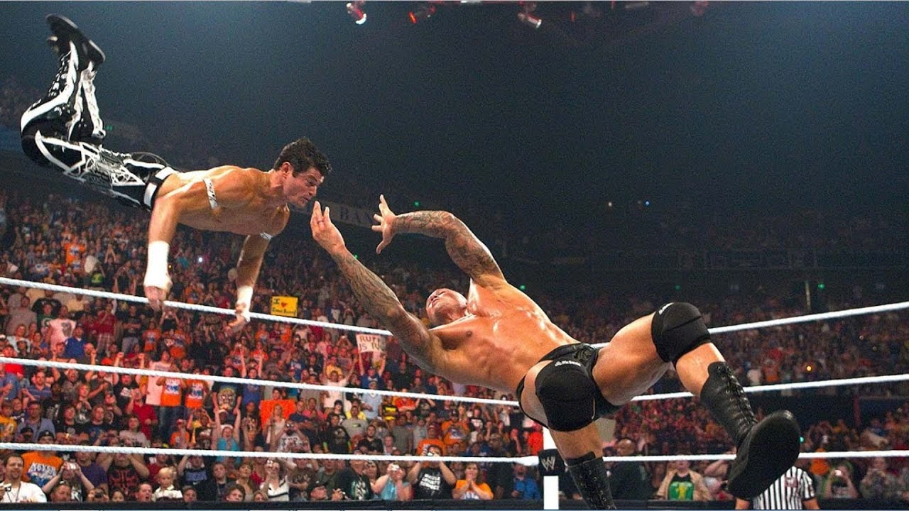 Randy Orton Rko On Evan Bourne In Mid Air Wwe New Updates Hd 1080