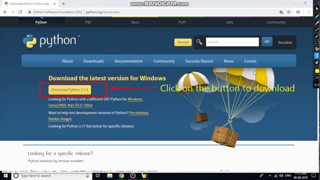 How to download and install Python 3.7.4 on Windows 10 ...