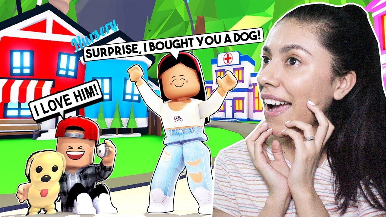 SURPRISING MY KIDS With Our FIRST PET! - Adopt Me Pets UPDATE