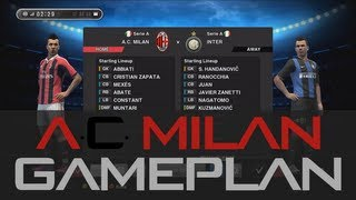 Pes 2013 - Best (A.C. Milan) Gameplan / Formation !!! (HD) Ranking Match