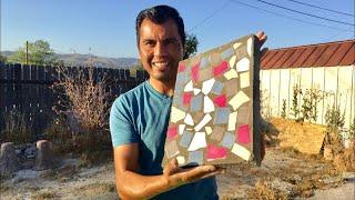 COMO HACER ADOQUINES DECORADOS CON MOSAICO DE COLORES  | PAVER WITH MEXICAN DECORATIVE TILE