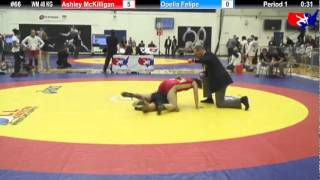 2012 DSMI WM 48 KG Cons. Round 2: Ashley McKilligan (Canada) vs. Opelia Felipe (UC Women)