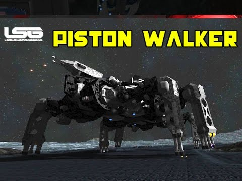 Space Engineers  Mechanical Piston Walker T800