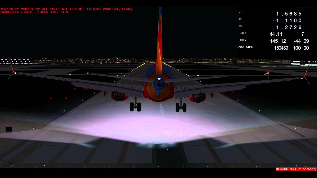 TDS Boeing 737-800 V2 nose bounce problem (Addon Airport)