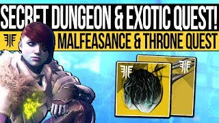 One of xHOUNDISHx's most viewed videos: Destiny 2 | SECRET MISSION & MALFEASANCE QUEST! How to Get It, Shattered Throne Dungeon Guide & More