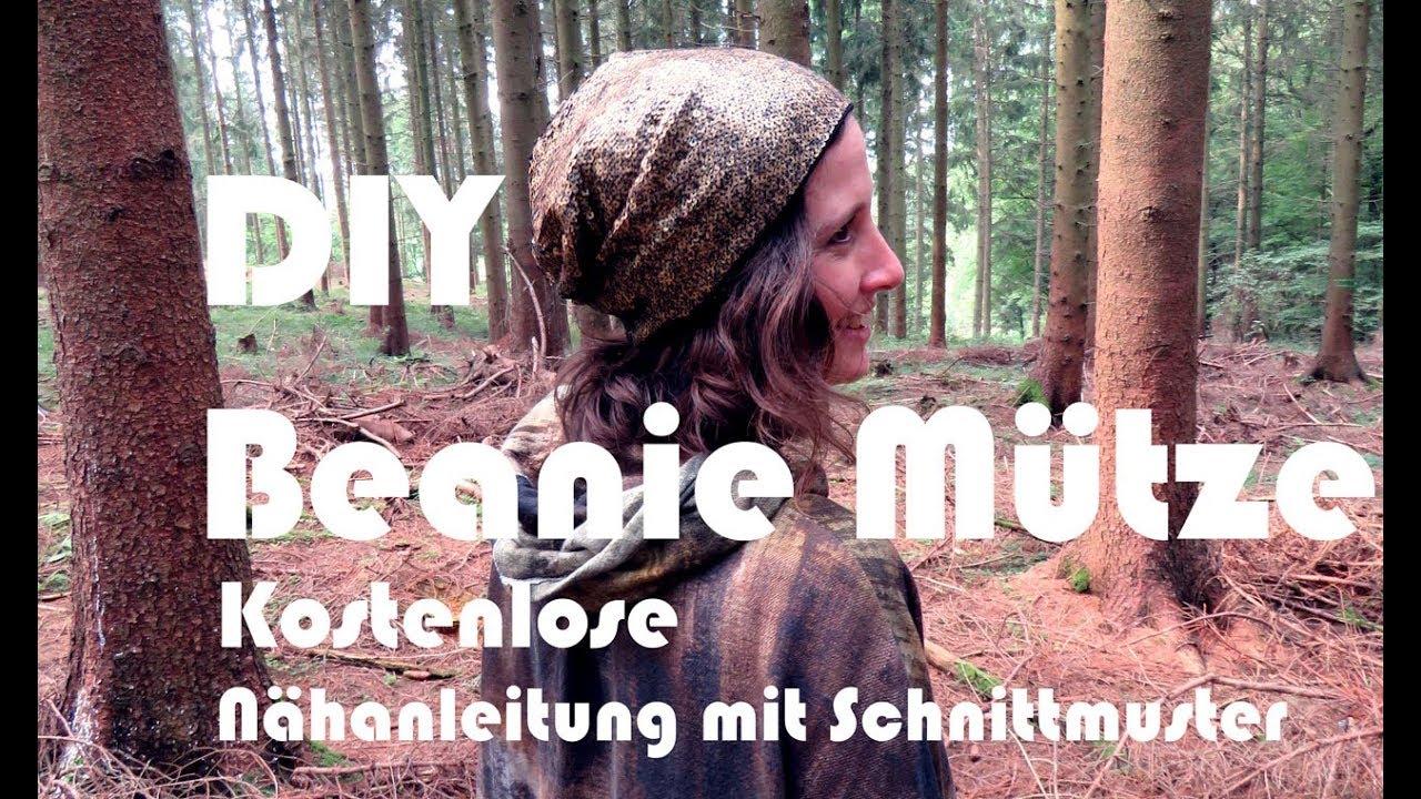 DIY Beanie Mütze - Nähen, Kostenloses Schnittmuster mit Anleitung ...
