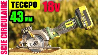 TECCPO scie circulaire à main mini sans fil 18 V 4 Ah 115 mm coupe de 43 mm Cordless Circular Saw