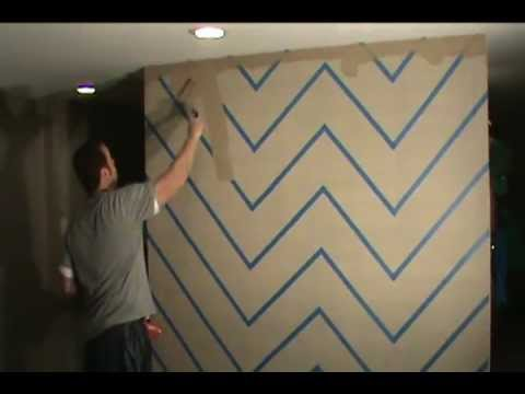 How to Easily Paint a Zig Zag Chevron Design on your Wall - YouTube