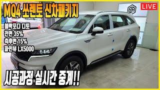 쏘렌토 썬팅 신차패키지 블락포디 디토, 파인뷰 LX50…