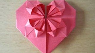 Herz Aus Papier Falten. Origami ( Einfach Und Schön )