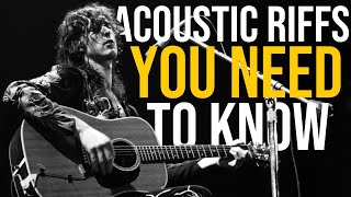 10 Acoustic Guitar Riffs That Will Make You A Better Player