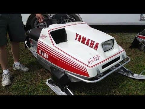 Vintage Snowmobile: 1977 Yamaha Racing SRX 440 in Original Condition