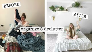 Decluttering & Organizing my NEW room | Minimalist Room Tour!