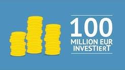 100 Million EUR investiert