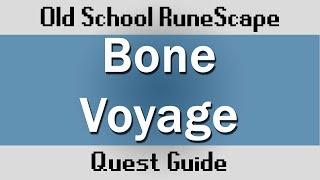 [OSRS] Bone Voyage Quest Guide