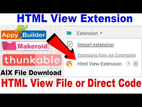 HTML View Extension | HTML View File or Code | Thunkable