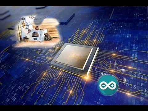 LCD + ардуино + серво + Ds18b20, управление температурой твердотоплевного котла. Arduino проекты