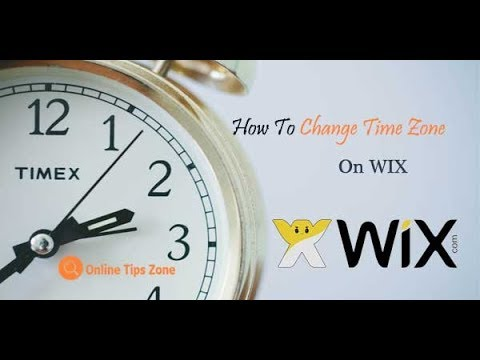 How to change WIX Time Zone