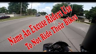 Name An Excuse Riders Use: To Not Ride Their Bikes