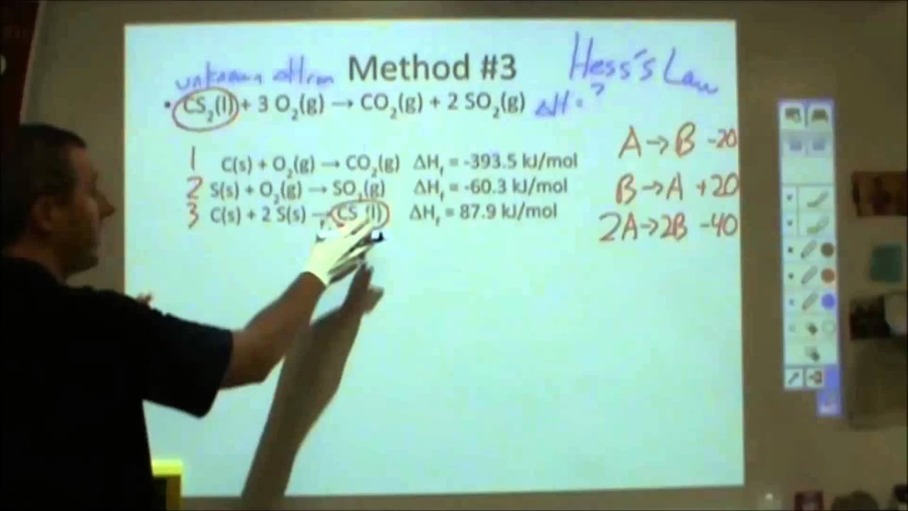 how to calculate enthalpy change