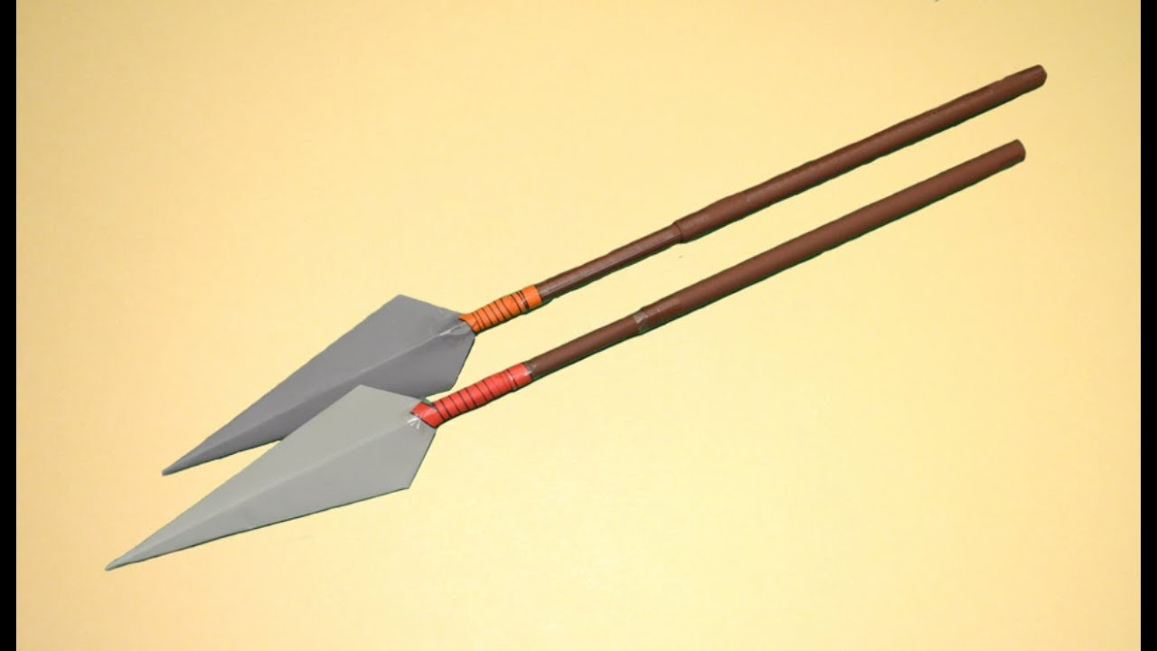 how to make a spear out of paper
