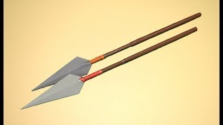 Como hacer una lanza de papel - juguete de papel