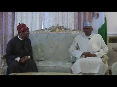 The Federal government media Team visits President Buhari in London