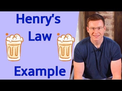 Henry's Law With Example Problem