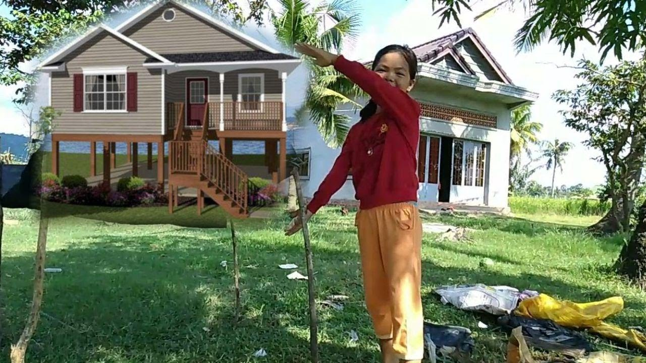 Build a house for sleeping while traveling, doing simple activities (Funny Video)