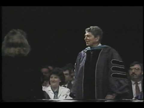 Ronald Reagan Sings Eureka College Alma Mater at G...