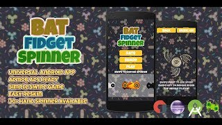 Bat Fidget Spinner + Admob (XCODE , Android Studio , Eclipse) BBDOC File Buildbox 2.2.8