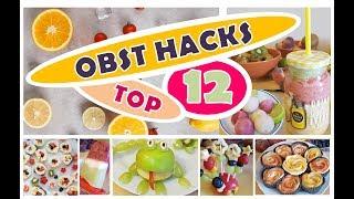 SNACK HACKS KINDER   Gesunde Süßigkeiten   Snacks für SCHULE   KITA   Obst Hacks   Süße Snacks   DIY