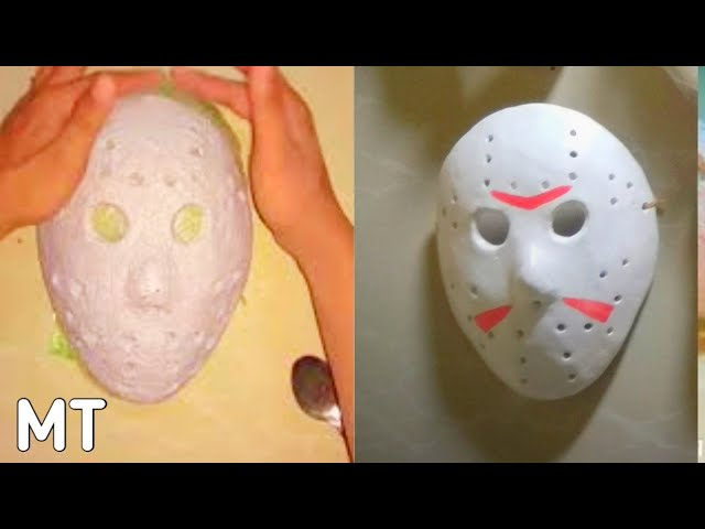 Cara Membuat Topeng Jason How to make Jason Mask DARI BUBUR KERTAS