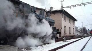 Winterliche Dampffahrt ins Emmental